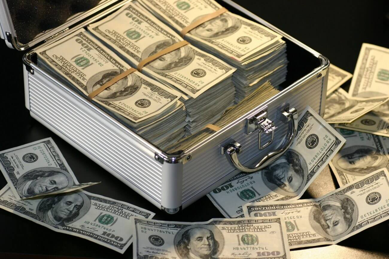 Geld, Dollar, Reichtum, Geldscheine